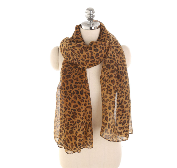 PMS Scarfs Brown / one size Personalized Leopard Pattern Sunscreen Sunscreen Scarf