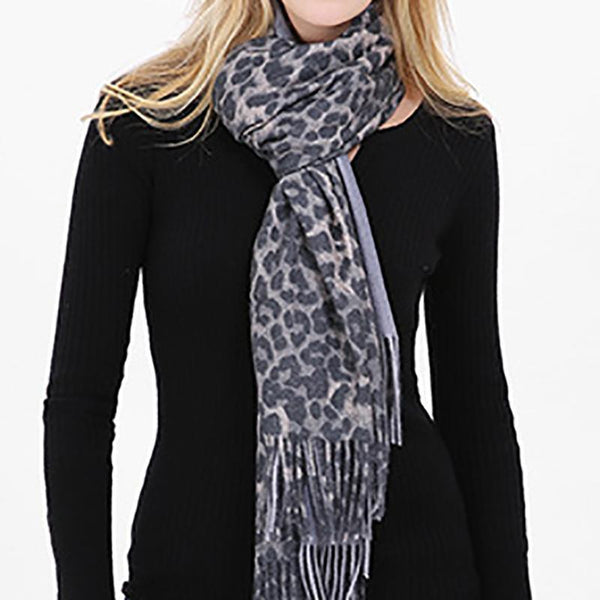 PMS Scarfs Dark Grey / one size Autumn And Winter Leopard Warm Thicken Ladies Scarf Shawl