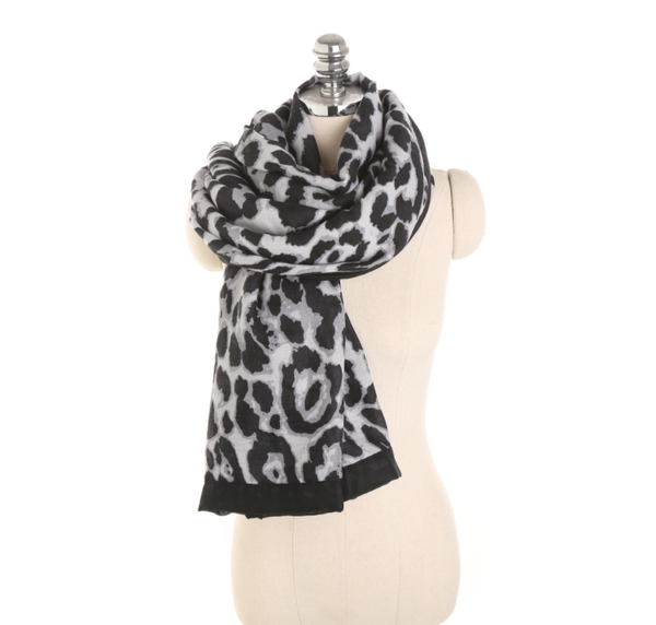 PMS Scarfs Gray / one size Fashion Autumn And Winter Leopard Pattern Wild Wild Cotton Scarf