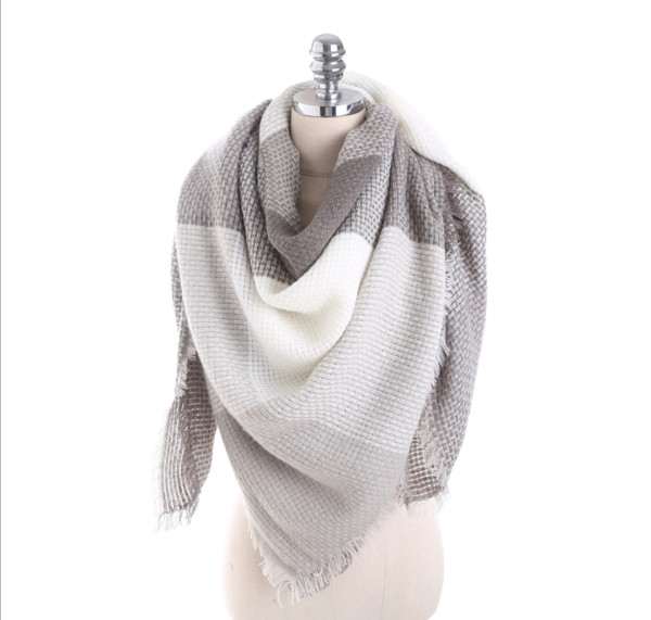 PMS Scarfs Gray / one size Imitation Cashmere Color Matching Scarf