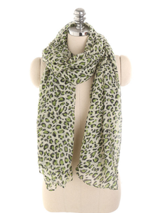 PMS Scarfs Green / one size Personalized Leopard Pattern Sunscreen Sunscreen Scarf