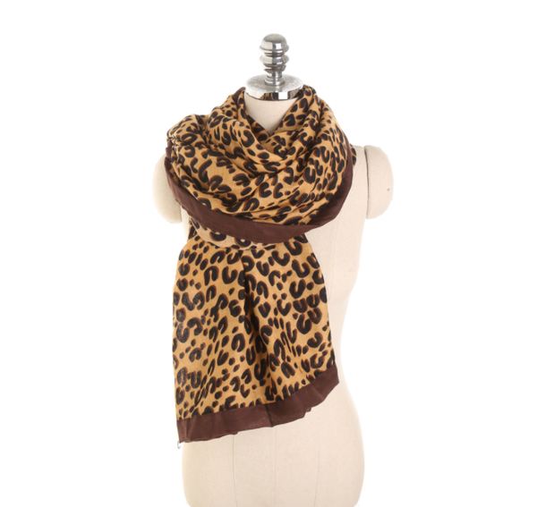 PMS Scarfs Light Brown / one size Fashion Autumn And Winter Leopard Pattern Wild Wild Cotton Scarf