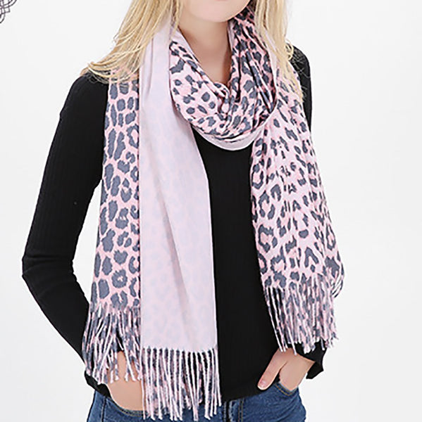 PMS Scarfs Pink / one size Autumn And Winter Leopard Warm Thicken Ladies Scarf Shawl