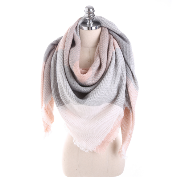 PMS Scarfs Pink / one size Imitation Cashmere Color Matching Scarf