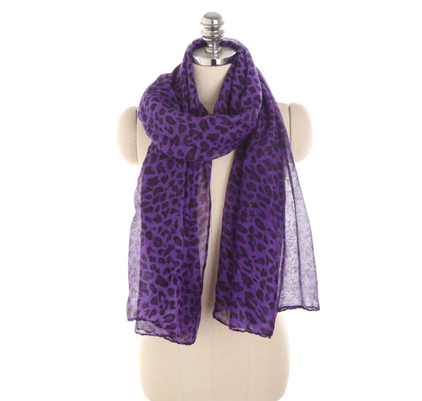 PMS Scarfs Purple / one size Personalized Leopard Pattern Sunscreen Sunscreen Scarf