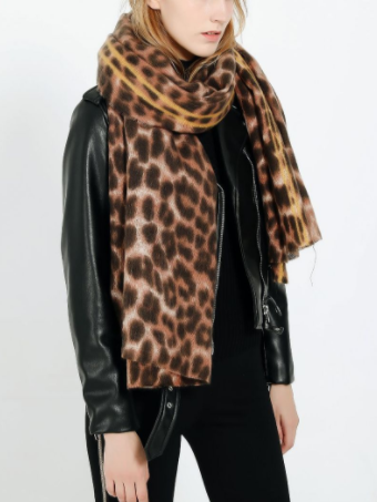 PMS Scarfs Red / one size Leopard-Like Cashmere Warmth Thickening Ladies Scarf