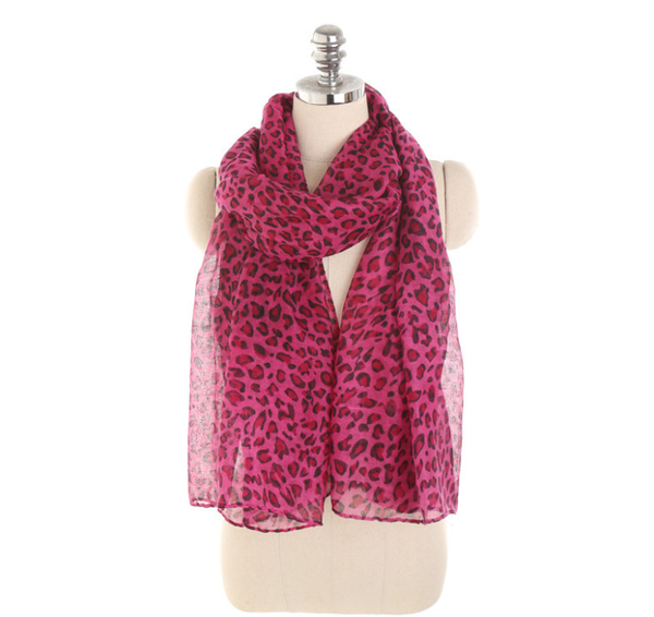 PMS Scarfs Rose / one size Personalized Leopard Pattern Sunscreen Sunscreen Scarf