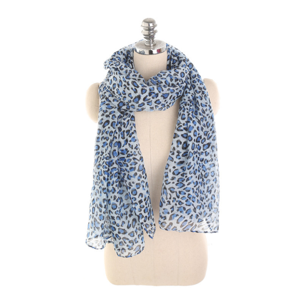 PMS Scarfs Sky Blue / one size Personalized Leopard Pattern Sunscreen Sunscreen Scarf