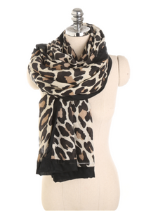 PMS Scarfs White / one size Fashion Autumn And Winter Leopard Pattern Wild Wild Cotton Scarf