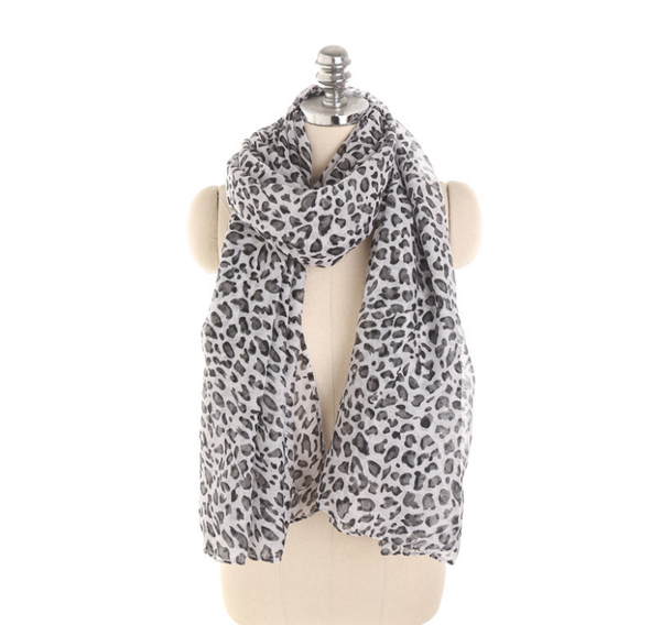 PMS Scarfs White / one size Personalized Leopard Pattern Sunscreen Sunscreen Scarf