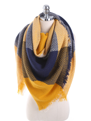 PMS Scarfs Yellow / one size Imitation Cashmere Color Matching Scarf