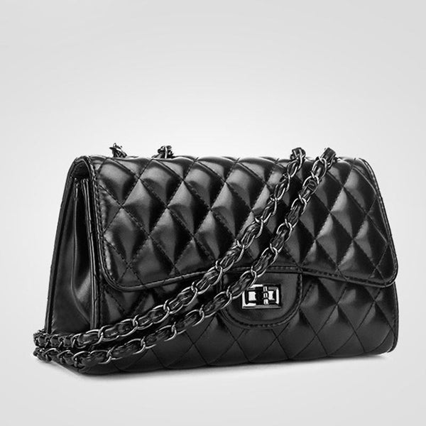 PMS Shoulder Bags Black / one size New Fashion Small Fragrance Rhombic Chain Hand Bag Shoulder Bag Messenger Bag