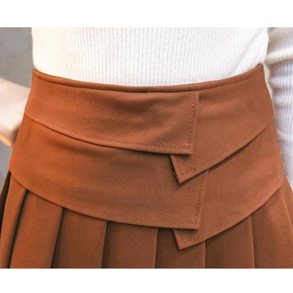 PMS Skirts black / s Fashion Pleated Short Skirt