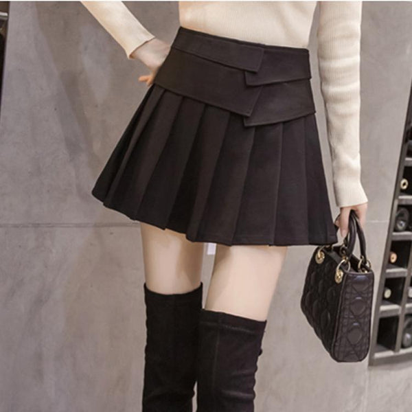 PMS Skirts black / xl Fashion Pleated Short Skirt