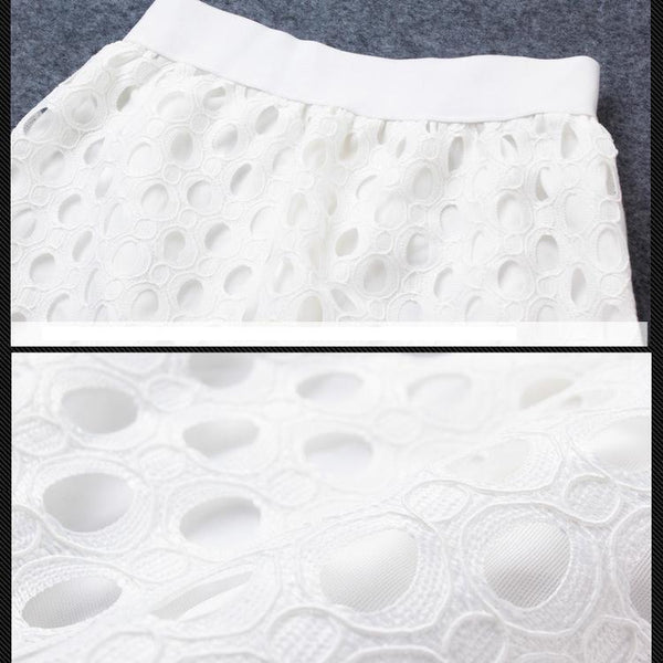 PMS Skirts white / s Lace Fish Tail Slim Skirt