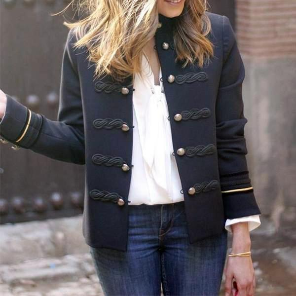 PMS Suit Jackets Same As Photo / s Fashion Button Solid Color Small Suit Jackets