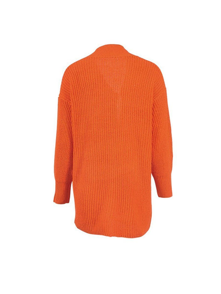 PMS sweater Bright Orange / one size Women's Long Sleeve Cardigan Lantern Sleeve Autumn Winter Halloween Sweater