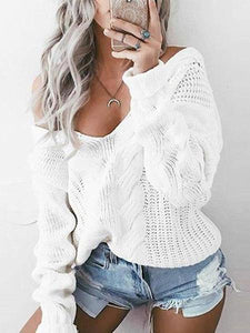 PMS Sweater White / s Loose Knitted Sweater