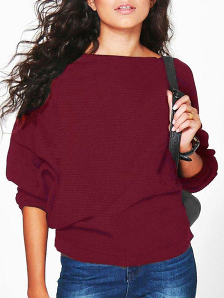PMS Sweaters claret_red / s Women's Loose Top T-Shirt Sweater