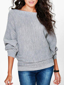 PMS Sweaters gray / s Women's Loose Top T-Shirt Sweater