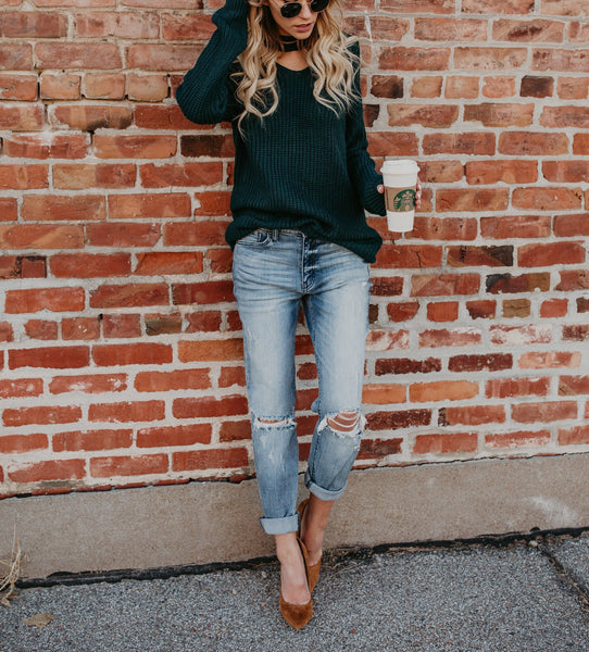 PMS Sweaters green / s Green Long-Sleeved Knitted Sweater