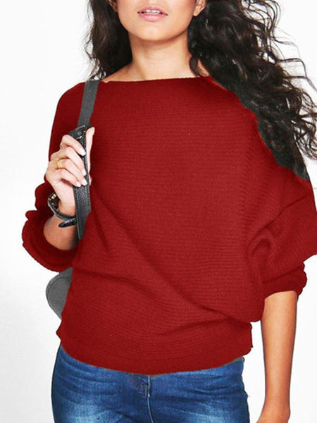 PMS Sweaters red / s Women's Loose Top T-Shirt Sweater