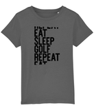 Eat Sleep Golf Repeat T-shirt - Kids