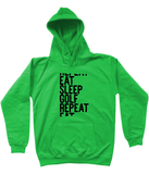 Eat Sleep Golf Repeat Hoody - Kids