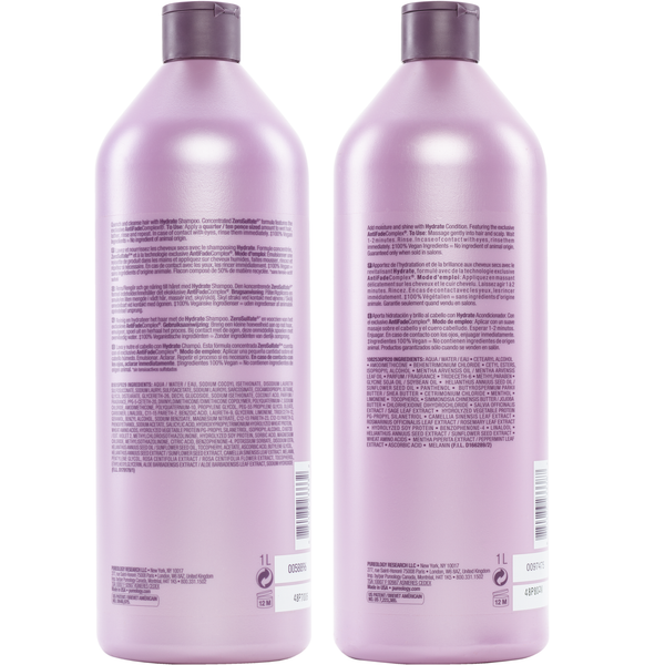 Pureology. Duo Shampoing/ Revitalisant Hydrate - 1000 ml