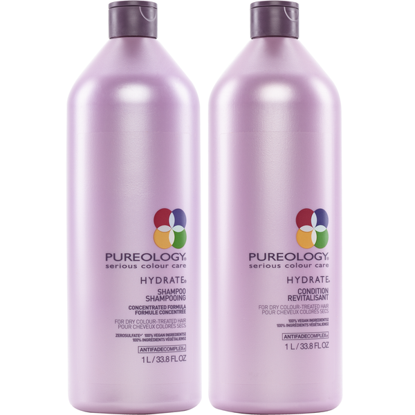 Pureology. Duo Shampoing/ Revitalisant Hydrate - 1000 ml (en solde)