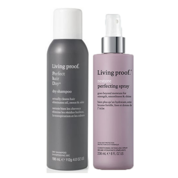 DUO Living Proof. Shampoing Sec PHD + Leave-In perfecteur (en solde)