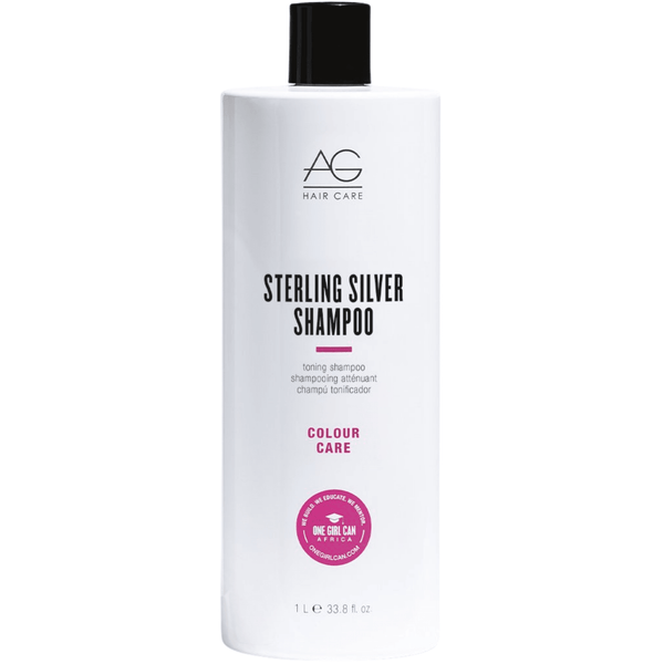 AG. Colour Care Shampoing Atténuant Sterling Silver - 1000 ml - Concept C. Shop