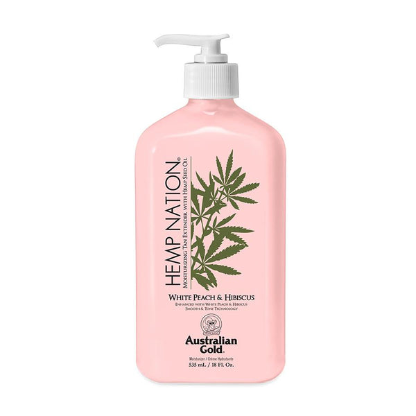 Australian Gold. Hemp Nation Prolongateur de Bronzage Pêche Blanche et Hibiscus - 535 ml - Concept C. Shop