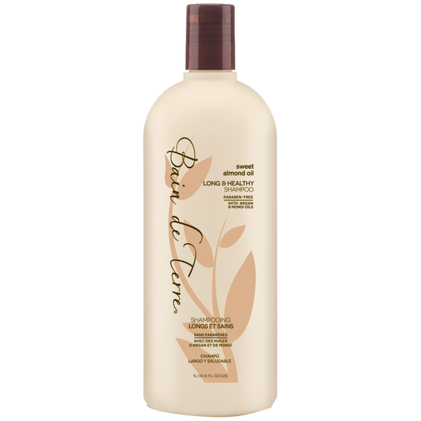 Bain de Terre. Shampoing Longs et Sains Sweet Almond Oil - 1000ml - Concept C. Shop