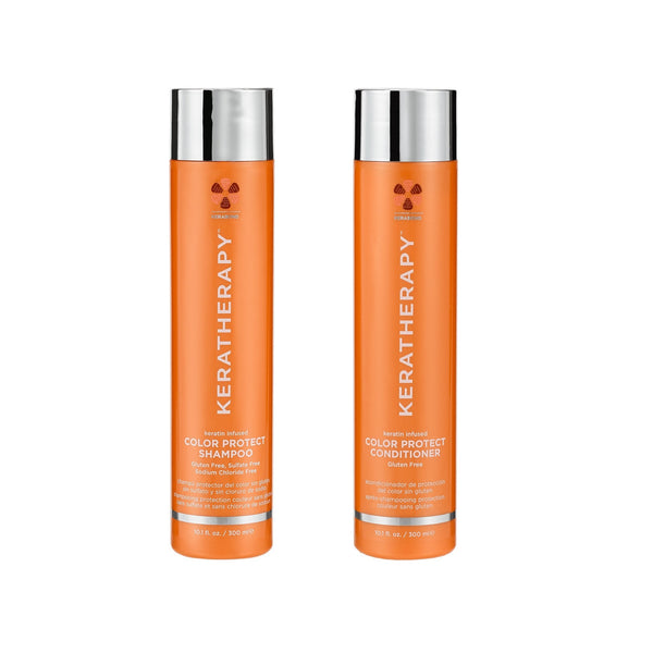 Keratheraphy . Duo shampoing/ revitalisant Color Protect- 300 ml - Concept C. Shop