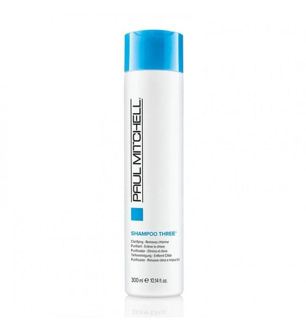 Paul Mitchell. Shampoing Three Purifiant (Clarifying) enlève le chlore - 300ml - Concept C. Shop