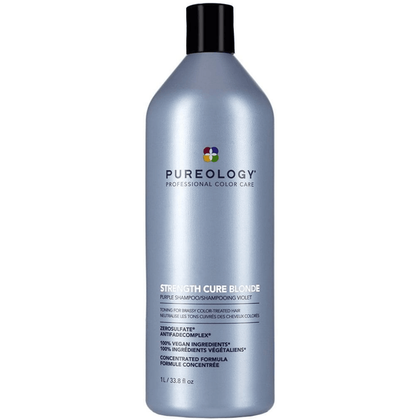 Pureology. Shampoing Violet Strength Cure Blonde - 1000 ml - Concept C. Shop