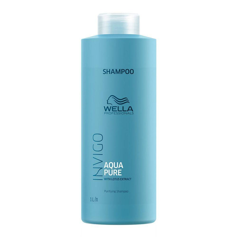 Wella. Invigo Aqua Pure Shampoing Purifiant - 1000ml - Concept C. Shop