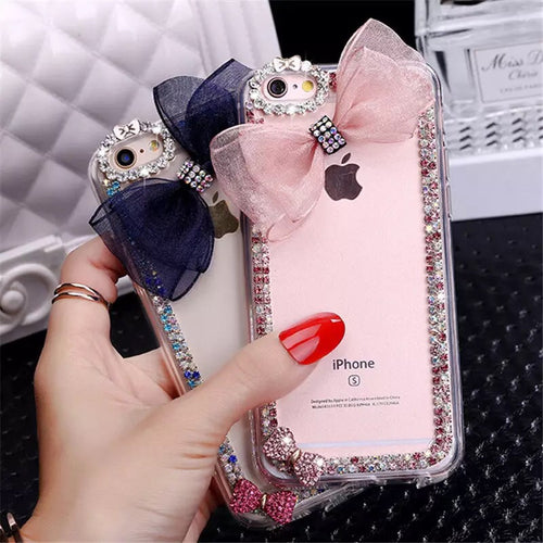 Bling Mesh Bow Case for Samsung