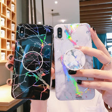 Marble Holo Pop-Socket Case