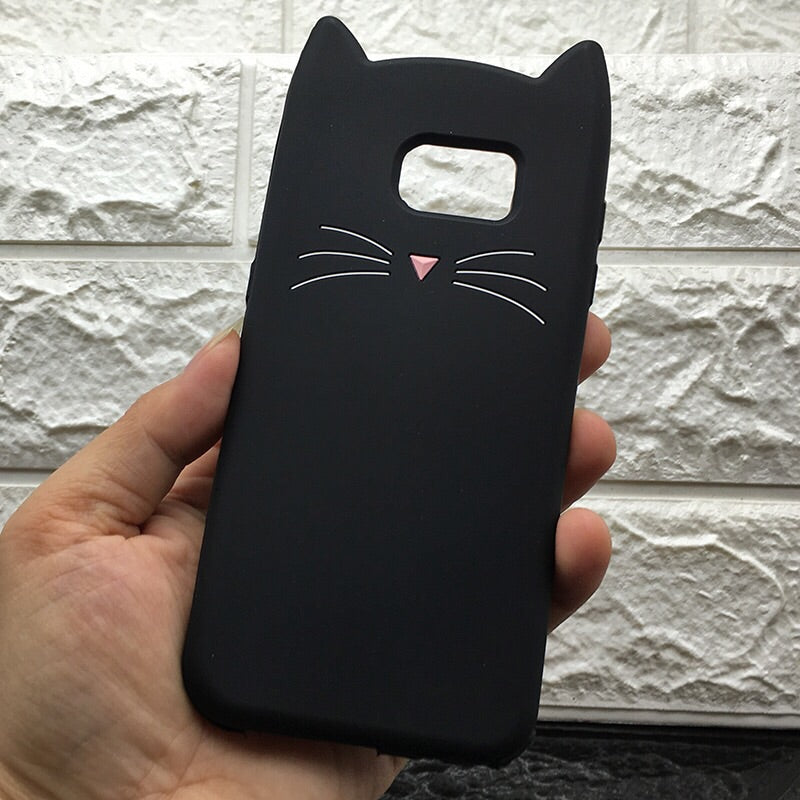 Cat Nose & Wiskers Case for Samsung