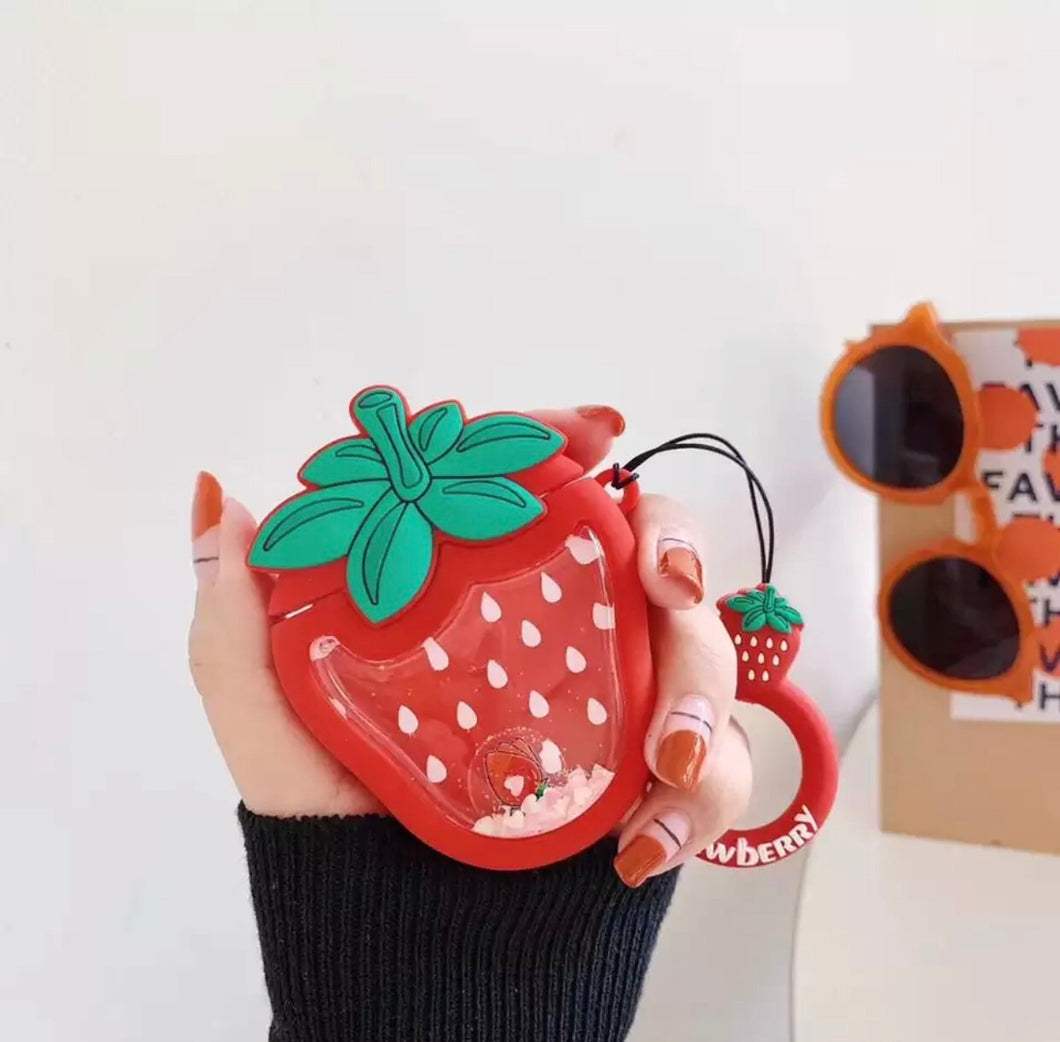Strawberry Quicksand AirPod Case
