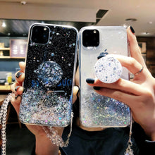 Glitter Pop-Socket Case for Samsung