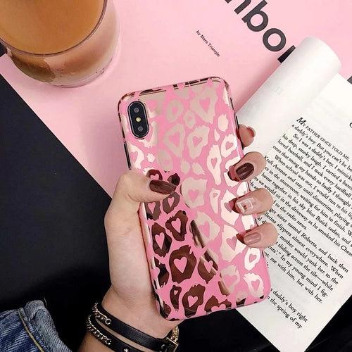 Pink + Gold Leopard Case