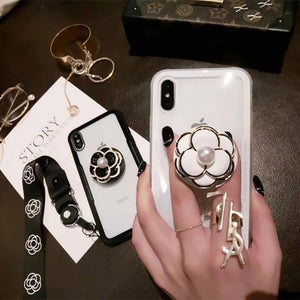 Camellia Flower Pop Socket Case