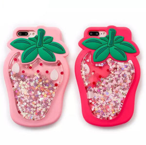 Strawberry Quicksand Case for iPhone
