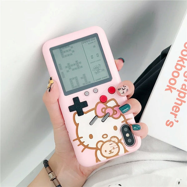 HelloKitty Gameconsole Phone Case for iphone 6/6s/6plus/7/7plus/8/8P/X/XS/XR/XS Max/11/11pro/11pro max PN0599