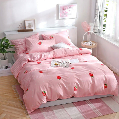Kawaii Strawberry Bedding Set PN0101