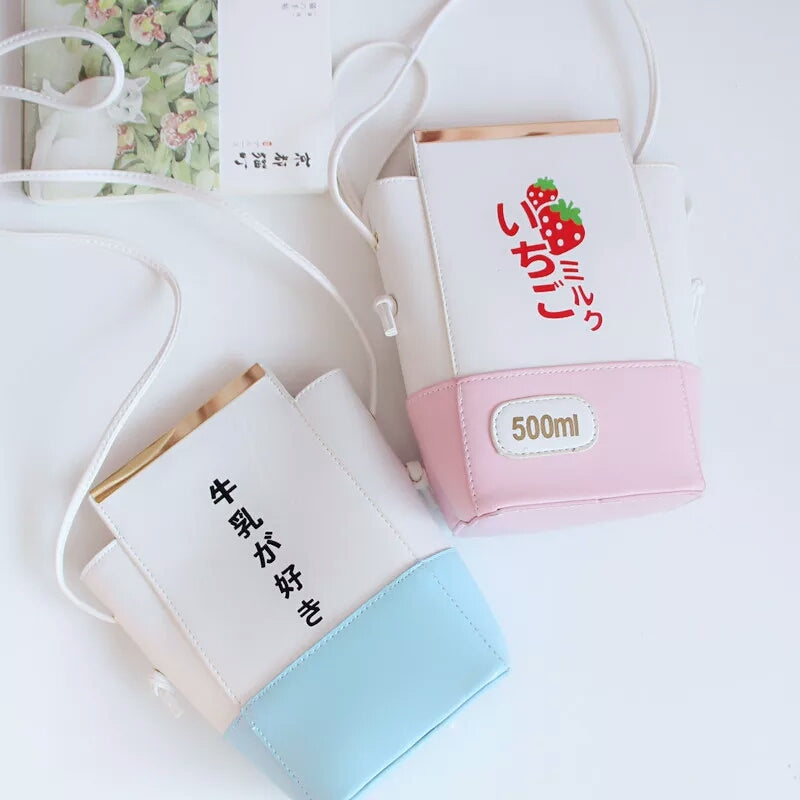Strawberry and Milk Shoulder Bag PN0286