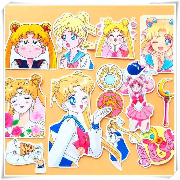 Sailor Moon Usagi And Chibiusagi Stickers PN0462